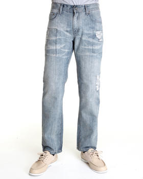 - Premium Washed Denim Jeans