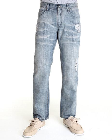 - Light Wash Premium Washed Denim Jeans