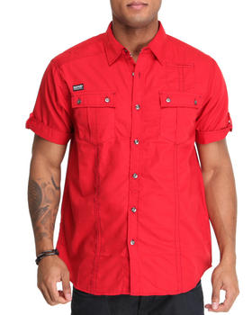 MO7 - Poplin thick stitch button down shirt