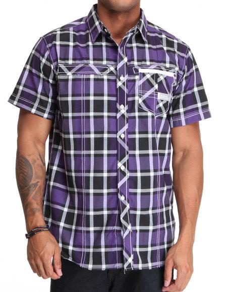 Purple Plaid Button Down Shirt | Is Shirt