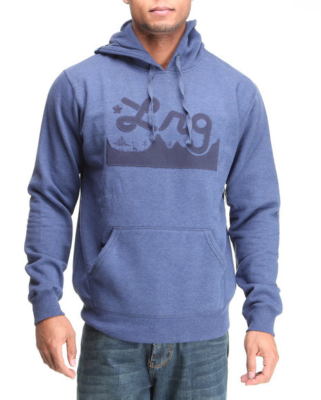 LRG Men Navy Core Collection Pullover Hoodie (B&T)