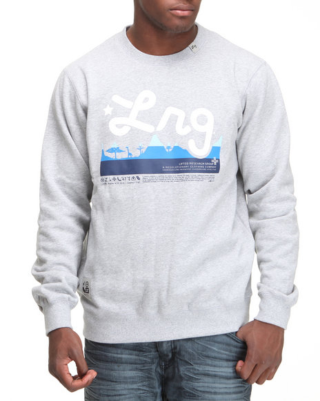 LRG Men Grey Core Collection Crewneck Sweatshirt (B&T)