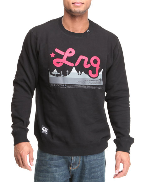 LRG Men Black Core Collection Crewneck Sweatshirt (B&T)