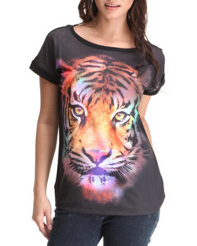 Basic Essentials - Neon Tiger Face Top