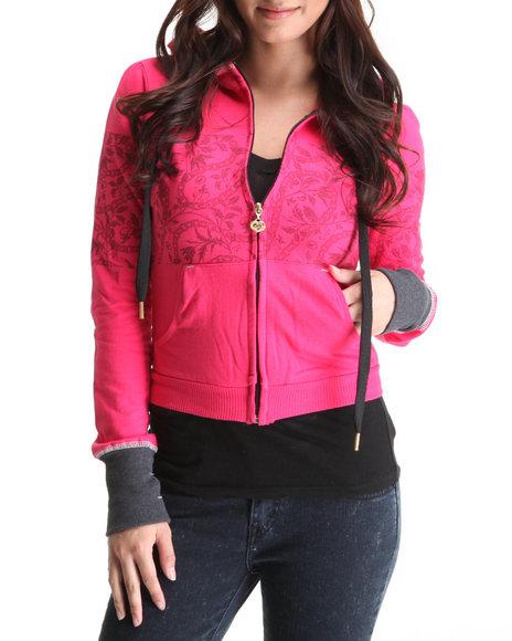 Ecko Red Women Purple Active Hoodie Jacket
