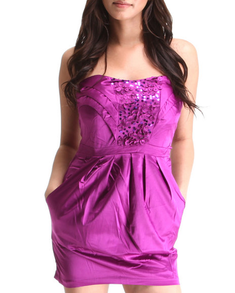 Basic Essentials Women Purple Party It Up Dress