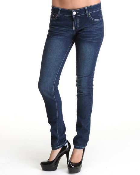rockit skinny jean pants w/back pocket detail
