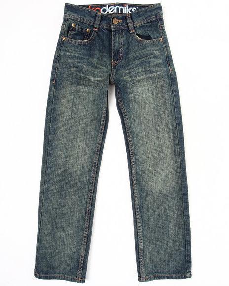 Akademiks Boys Vintage Wash Blasted Fanback Jeans (8-20)