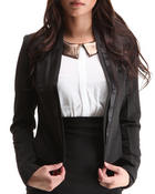 Basic Essentials Women Marla Blazer Black Medium