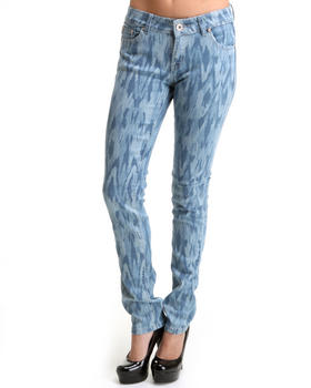 Basic Essentials - Native Denim Print Skinny Jeans