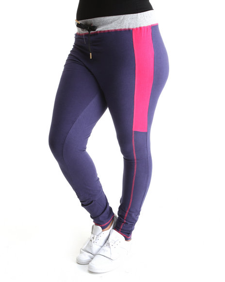 Ecko Red Women Purple Heavy Stretched Active Bottoms (Plus Size)