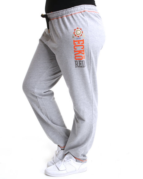 Ecko Red Women Grey Active Pants (Plus Size)
