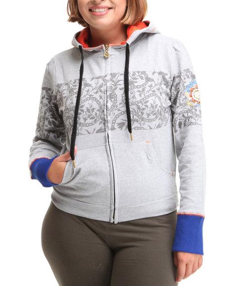 Ecko Red - Women Grey Active Hoodie Jacket (Plus)