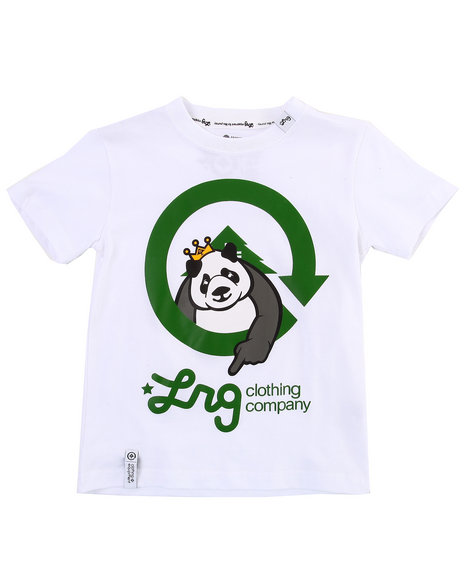 LRG Boys White The Homeboy Panda Tee (4-7)