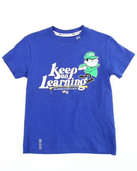 LRG Boys Blue Keep On Learning Tee (2T-4T)