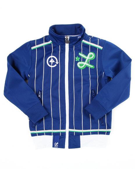 LRG Boys Blue Hardballers Track Jacket (4-7)