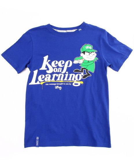 LRG Boys Blue Keep On Learning Tee (8-20)