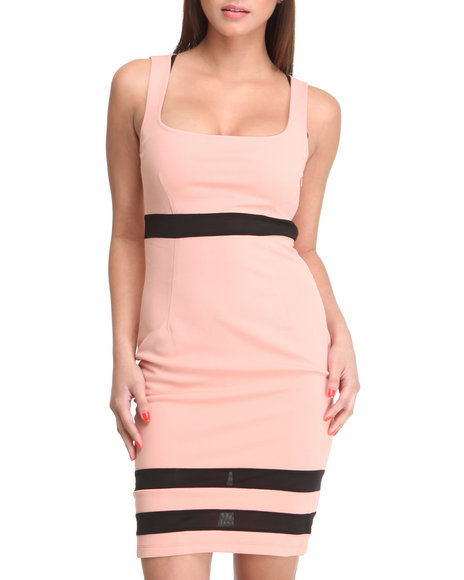 Basic Essentials Women Black,Pink Athena Sleeveless Dress