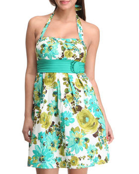 Basic Essentials - Floral Halter Top Spring Dress