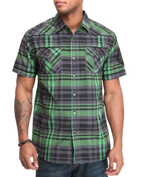 MO7 - Plaid Lumination S/S button down