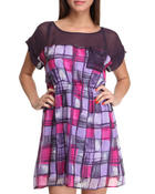 Basic Essentials Women Dresses Purple Large