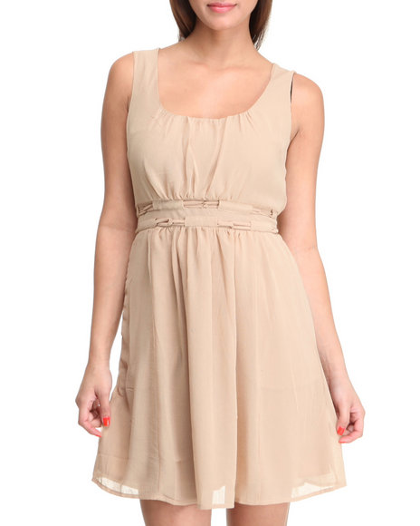 Basic Essentials Women Khaki Jan Dress