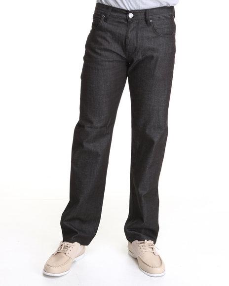 LRG Men Black Core Collection True-Straight Denim Jeans