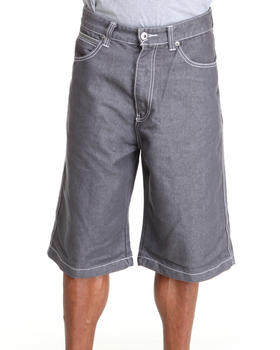 MO7 - Pu trim denim short