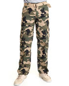 Men - Ripstop Camo Cargo Pants w/ Belt