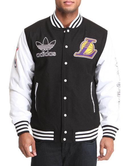 Adidas Men Black Los Angeles Lakers Classic Varcity Jacket