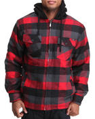Men - Flannel Zip Jacket w/ sherpa lining