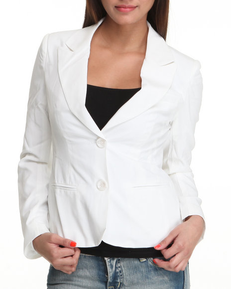 Basic Essentials Women White Marla Blazer