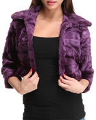 Women - Crop Faux Fur Jacket