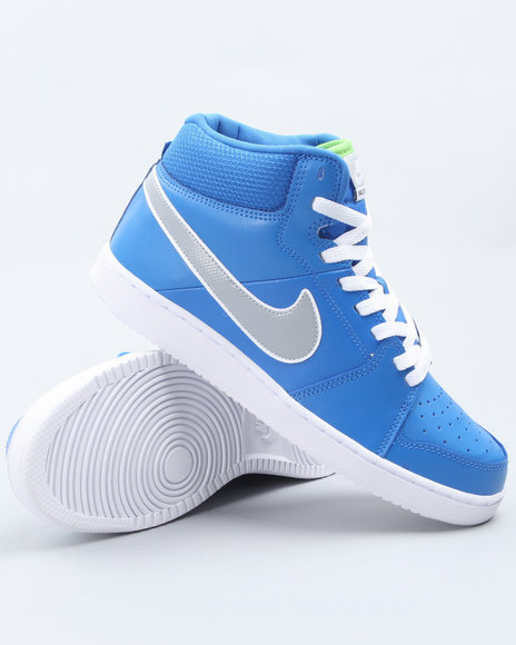 Nike Men Blue Nike Backboard Ii Mid Sneakers
