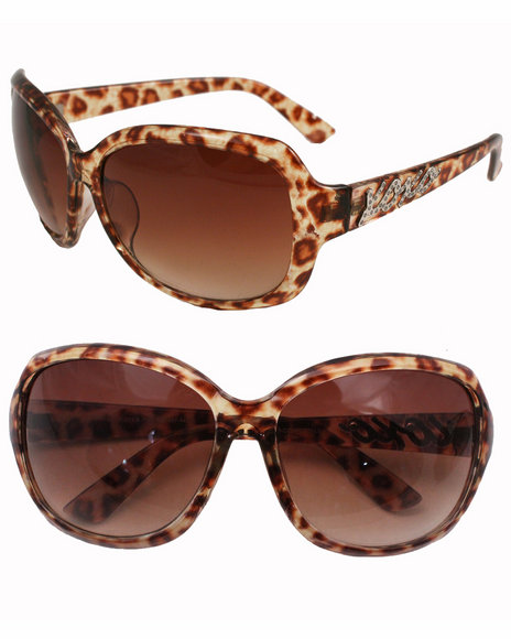 Xoxo Leopard Xoxo Temple Sunglasses Brown