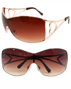 Accessories - Heart Cut Out Temples Sunglasses