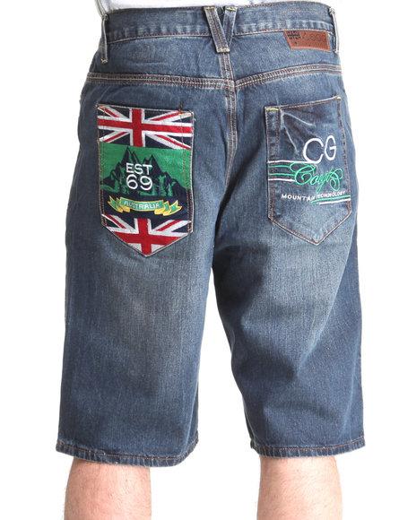COOGI Men Dark Blue Expedition Denim Shorts