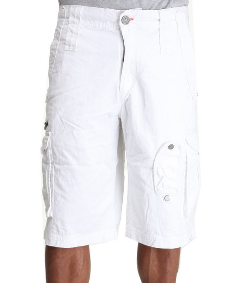 Coogi Men White Expedition Cargo Short