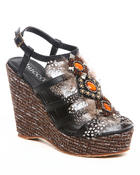 Footwear - Teri Wedge w/Feather Detail