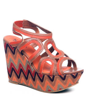 Fashion Lab - Roxane Printed Wedge