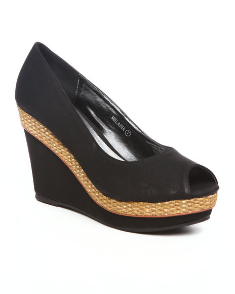 Fashion Lab Women Black Melaina Wedge
