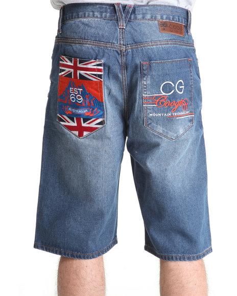 COOGI Men Indigo Expedition Denim Shorts