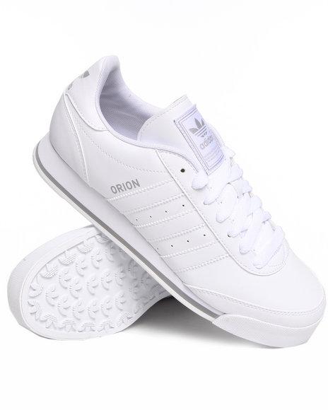 Adidas Men White Orion 2 Leather Sneakers