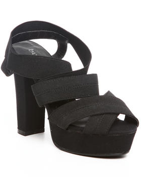 Fashion Lab - Cap chunky heel wedge