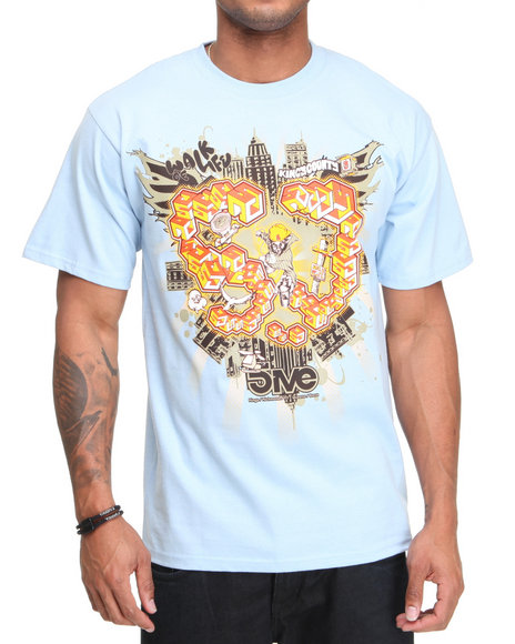 5Ive Jungle Men Blue Walk Of Life Tee