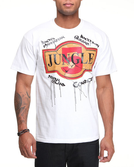 5ive Jungle - Men White Tiles Tee