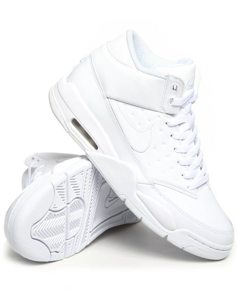 Nike Men White Nike Air Flight Classic Sneakers
