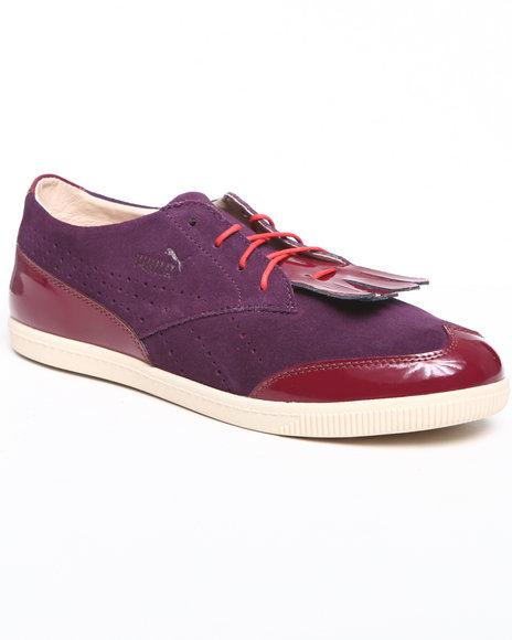 Puma Women Purple Puma Blackstation Clyde Brogue Lo Sneakers