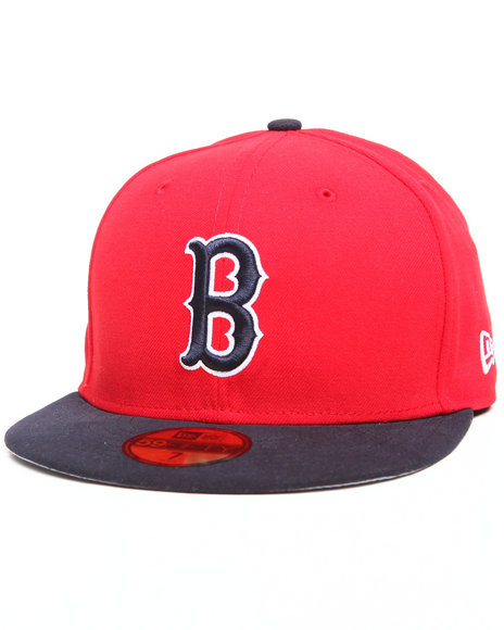 boston red sox side patch 5950 fitted hat