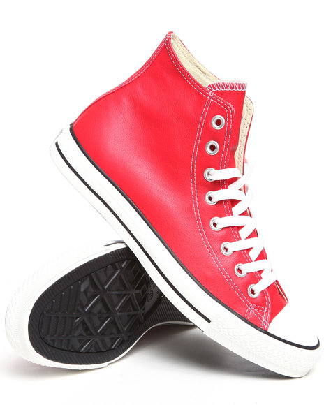 Converse - Men Red Chuck Taylor All Star Leather Sneakers